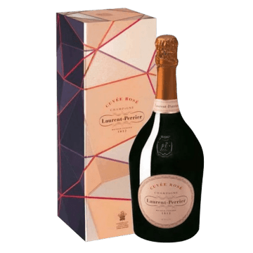 CHAMPAGNE  LAURENT  PERRIER  -  BRUT  ROSE  IN  COFANETTO  REGALO  LUSSO