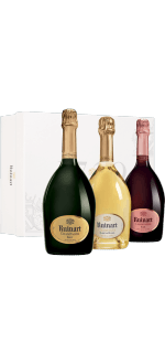 CHAMPAGNE RUINART - COFANETTO REGALO COLLECTION 3 BOTTIGLIE - BLANC DE BLANCS - ROSE - BRUT