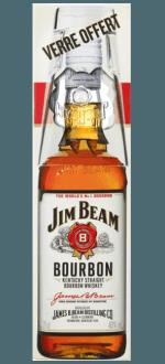 BOURBON JIM BEAM WHITE + 1 BICCHIERE - EN ETUI