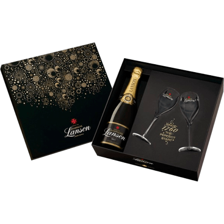 CHAMPAGNE LANSON - COFANETTO REGALO NEW YORK 2 FLUTE