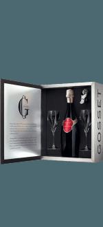 CHAMPAGNE GOSSET - GRANDE RESERVE - COFANETTO 2 FLUTE