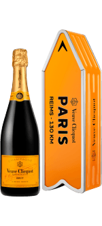 CHAMPAGNE VEUVE CLICQUOT - BRUT CARTE JAUNE - EN COFANETTO REGALO ARROW