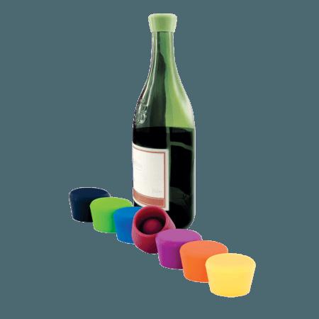 2 TAPPI COLORATI - SILICONE WINE STOPPER - PULLTEX