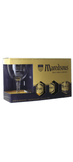 COFANETTO REGALO MAREDSOUS 3X33CL + 1 BICCHIERE - ABBAYE DE MAREDSOUS