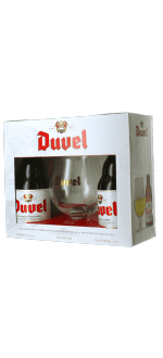 COFANETTO REGALO DUVEL 2*33CL + 1 BICCHIERE - BIRRIFICIO DUVEL MOORTGAT