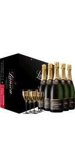 PACK 6 BOTTIGLIE CHAMPAGNE LANSON - BLACK LABEL + 6 FLUTE