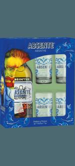 COFANETTO REGALO ABSENTE + 4 BICCHIERI
