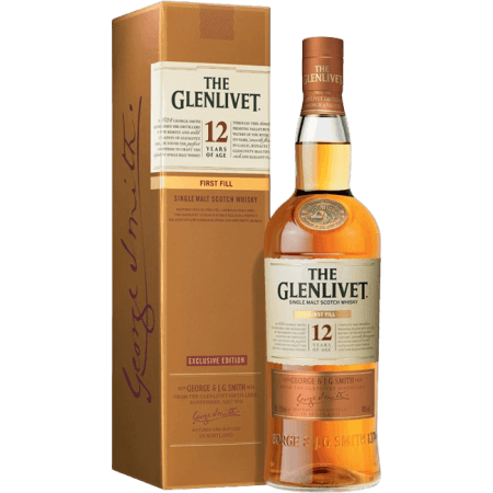 THE GLENLIVET FIRST FILL 12 ANNI - EN ETUI