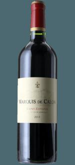 MARQUIS DE CALON 2012 - SECONDO VINO CHATEAU CALON SEGUR