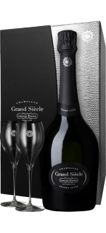 CHAMPAGNE LAURENT-PERRIER - GRAND SIECLE - EN COFANETTO REGALO 2 BICCHIERI LUXE