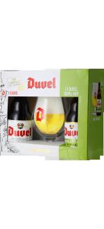 COFANETTO REGALO DUVEL 2*33CL (DUVEL + TRIPEL HOP CITRA) + 1 BICCHIERE - BIRRIFICIO DUVEL MOORTGAT