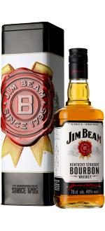 BOURBON JIM BEAM WHITE - COFANETTO REGALO METAL