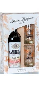 COFANETTO REGALO PASTIS HENRI BARDOUIN + 2 BICCHIERI