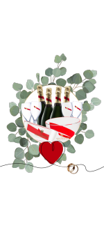 PACK SPECIAL MARIAGE MUMM CORDON ROUGE : CHAMPAGNE & SEAUX & FLUTE & VASQUES