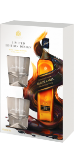 JOHNNIE WALKER BLACK LABEL 12 ANNI - EN COFANETTO REGALO 2 BICCHIERI