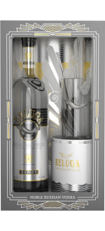 VODKA BELUGA NOBLE + 1 BICCHIERE A COCKTAIL EN COFANETTO REGALO