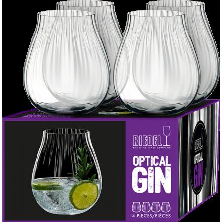 GIN SET OPTICAL - 4 BICCHIERI - REF 5515/67 - RIEDEL