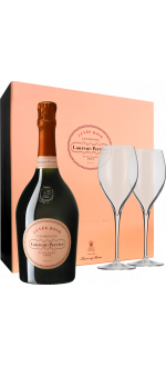 CHAMPAGNE LAURENT-PERRIER - BRUT ROSE - EN COFANETTO REGALO 2 FLUTE 2019