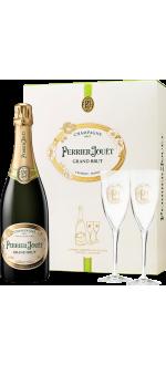 CHAMPAGNE PERRIER JOUËT - GRAND BRUT - COFFRET 2 FLUTES
