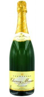 CHAMPAGNE CUVEE SELECTION BRUT - THIERRY MASSIN ABIMEE( France-Champagne-Champagne AOC-Blanc-0,75L )