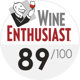 Wine Enthusiast : 89/100